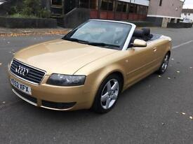 Audi A4 Cabriolet 2.5TDI CVT Sport PADDLE SHIFT GEARS, CRUISE CONTROL, MOT 05/17