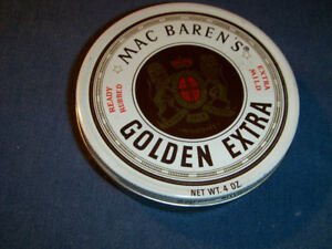 VINTAGE MAC BAREN'S GOLDEN EXTRA READY RUBBED CAN-EMPTY