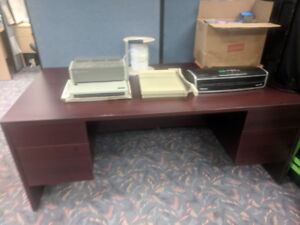 Used filing cabinet, desks, chairs