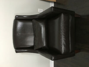 Steven & Chris Brown Leather Arm Chair