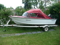 Aluminum 14.5 ft Starcraft with 50 hp Mercury, Cover & Trailer