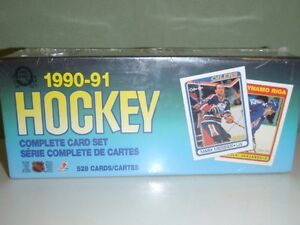 Complete 1990-91 Hockey Card Sets