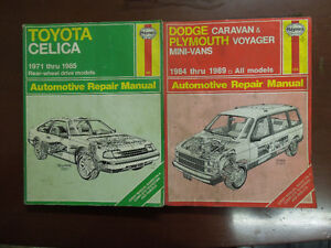 Automobile Repair Manuals $5.00 and up