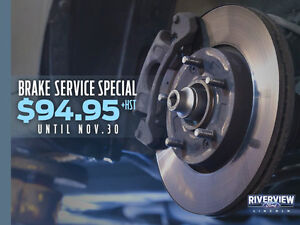 Brake Service Deal on to get ready for Winter