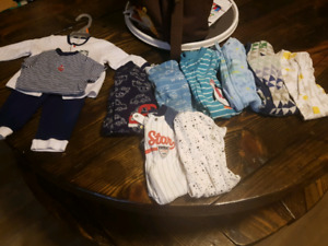 Box of baby boy clothes for sale
