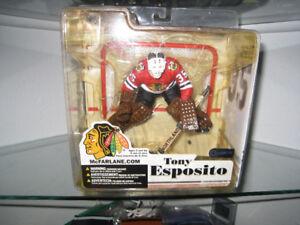 NHL Mcfarlane Tony Esposito BlackHawks  Toy Sports Action Figure