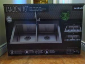 Artika Twin Bowl Stainless Steel Kitchen Sink (Over/Under)