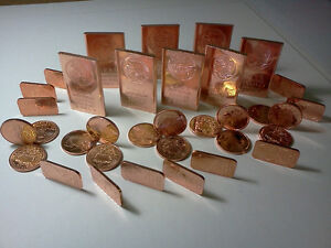 COLLECTION OF PURE COPPER BULLION