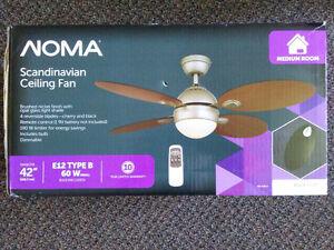 """NEW!! Scandinavian 42"""" Fan Light Fixture Wireless Remote"""