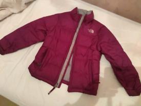 Girls North Face padded jacket
