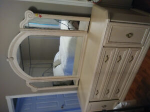 Dresser with mirror, armoire and 2 side tables