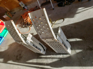 Fold out ramps for quad or bikes