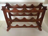 Antique Oak wine rack