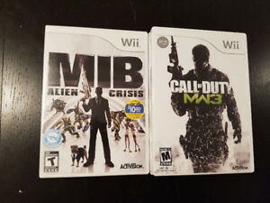 Nintendo Wii Call of Duty MW3, MIB Men in Black Alien Crisis