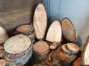 Assorted Fir Rounds & Misc Pieces
