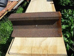 1 ft.pc. of rail track.Good for anvil/ weight. 1ft./30 LBS.$10.0