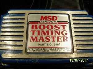 MSD boost timing