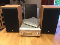Denon Tuner/CD Player and two KEF Speakers
