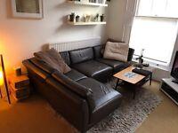 Habitat brown leather corner sofa EXCELLENT CONDITION