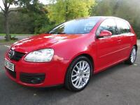 06/56 VOLKSWAGEN GOLF 2.0 GT TDI 5DR HATCH IN RED WITH SERVICE HISTORY