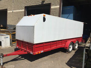 Enclosed trailer.