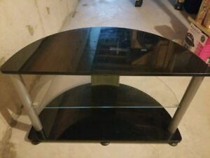 Black Glass Top Tv Stand /Table