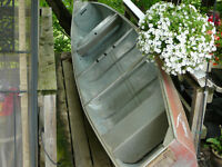 16`Squarestern Springbok & 2 H.P. Outboard & Canoe Caddy