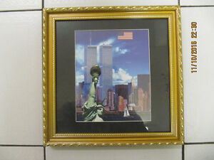 Classic TwinTowers 911 Memorial 12x12 Framed Illuminated Picture