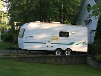 21ft bonair camping trailer