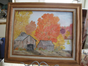 A WATERCOLOR...BRILLIANT TOUCH of AUTUMN...