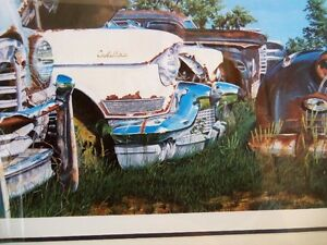 """'CADILLACS AND PACKARDS'  framed Limited Edition Print 16""""X36"""" Kitchener / Waterloo Kitchener Area image 4"""