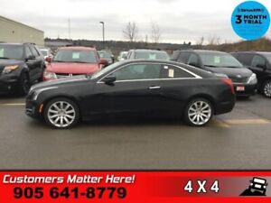 2015 Cadillac ATS 2.0 Turbo Luxury  COUPE AWD ROOF CUE CAM HS HT
