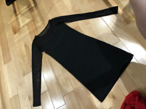 Short Black Dress with Sleeves