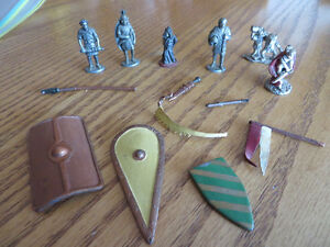 Miscellaneious Metal Miniature Figures and misc. Weapons