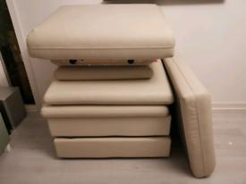 Ikea modular leather sofa