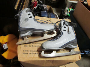 grey ccm skates  in great condition  kids size 8