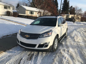 2014 CHEV TRAVERSE 1LT SUV AWD, 8 PASS, LOW KMs! +DVD (REDUCED!)