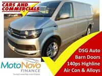 2015 VOLKSWAGEN TRANSPORTER T6 T30 SWB Highline 140ps DSG Automatic Barn Doors