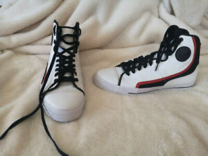 PF FLYERS Men 12 Leather HI TOPS Basketball Skate Shoes Sneakers