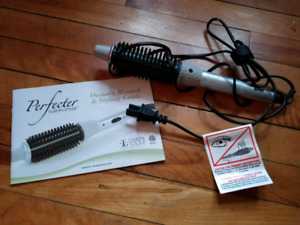Perfector fusion styler for hair curling iron