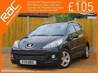 2011 Peugeot 207 1.6 SW Sport 4 Speed Auto Pan Roof Air Con Bluetooth Parking Se