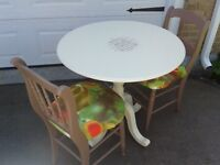 SWEET TABLE SET......SOLID WOOD..GREAT DEAL