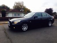 BMW 525D MANUAL-2005 BLACK-1 OWNER-FULL SERVICE-HPI CLEAR-LONG MOT-6 SPEED -DRIVE LIKE NEW-FUL CLEAN