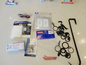 Assorted Hardware- Metal Curtain Rings, Switch Plate, Pot feet + Kitchener / Waterloo Kitchener Area image 1