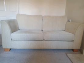 Fabric Sofa with Oak wood legs