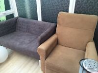 IKEA mini sofa & recliner chair