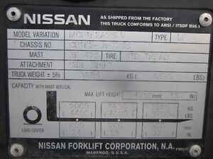 Nissan Engine 4 Cylinder with Propane Kit - from Nissan Forklift London Ontario image 5