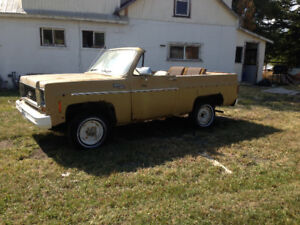 1974 K5 Blazer Project, complete truck with cap (not 72)