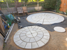 1.8M New ROTUNDA Patio Stone circle in Riven Buff (has imperfections)