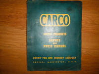 CARCO J-120-PS Winch For Caterpillar D8L Service & Parts Manual